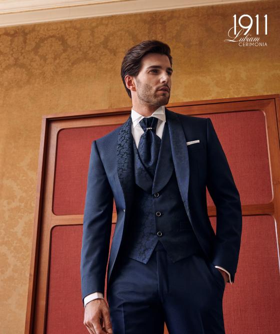SUBLIMINAL MODA Gilet + Camicia + Cravatta Uomo Tinta